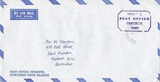 BD215) Penrhyn OHMS Air mail cover bearing: Official Paid Envelope. Price: $6