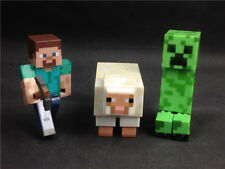 3x MINECRAFT Overworld Creeper Steve Sheep loose hot item TM