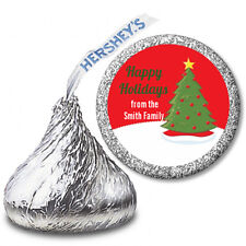 Christmas Tree - Personalized Christmas Hershey Kiss Stickers-108 Stickers