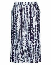 Autograph Blue Navaho Lace insert Maxi skirt 100% cotton + Lined size 24 NEW