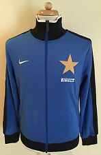 Rare NIKE Inter Milan Soccer Jacket Sz M Blue Training Warmup Track Full Zip