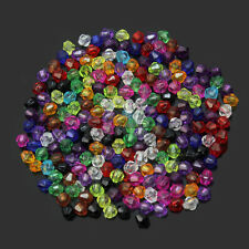 200Pcs 4mm Variety Of Colors Mixed Acrylic Bicone Bead Spacer Crafts In Bulk