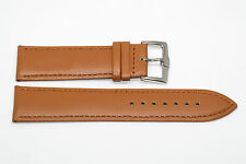 LIGHT BROWN 22MM STITCHED PADDED LEATHER WATCH BAND STRAP FIT NIXON SENTRY 42MM
