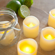 Set Of 6 Battery Operated Wax Flickering LED Votive Tea Light Candles 5cm