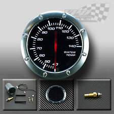 "WATER TEMP 52MM / 2"" WHITE LED SMOKED FACE GAUGE FOR DASH OR POD HOLDER"
