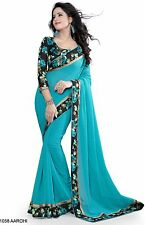 Bollywood Indian Pakistani Ethnic Party Wear Saree Designer Sari with Blouse