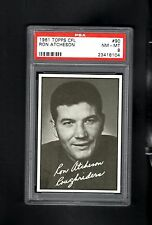 1961 Topps CFL # 90 Ron Atcheson PSA 8 NM-MT
