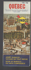 Sunoco Gas Station Map Quebec Canada 1973 1974