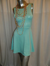 UV Mint Green Neon  Skater Clubwear/Casual V Open Back Mini Dress 8-10