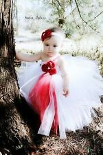 WHITE TUTU DRESS FOR BABY GIRL KIDS TODDLER - BIRTHDAY,  - SIMPLE NET 2-4 YEARS