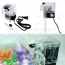 Mini Power Filter Waterfall Water Pump Hang On Slim Filter  Aquarium Fish Tank