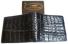 Wallet Black Man Bifold GENUINE REAL CROCODILE Alligator Tail Skin Leather New
