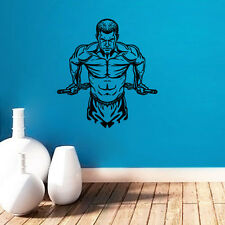 Muscle Man Wall Sticker Gymnasium Art  Wall Decal Fitness Train Room Wall Decals