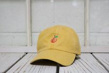 Hip Peach Embroidered Low Profile Baseball Cap Hat Burnt Yellow