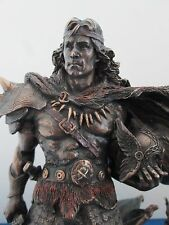 Viking Warrior Statue with Sword Shield and Dragon Companion 10 inch #WU75422A4