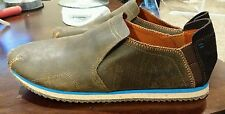 Hush Puppies Slip on, Brown Leather, men's 9