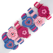 6 x Party Loot Bag Fillers - Girls Toy Wooden Watches for Childrens Gift Bags 6W