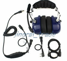 Blue Heavy-duty Noise-reduction Headset for KENWOOD PUXING WOUXUN BAOFENG radio