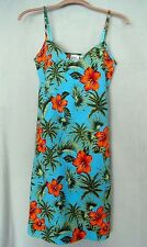 Tropical Design Built In Bra Dress Giorgio Fiorlini Cotton Spandex Stretch Sz S