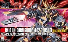 Gundam 1/144 HGUC #134 RX-0 Unicorn 02 Banshee Destroy Mode Bandai 173901 Kit