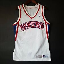 100% Authentic 94 95 Sixers 76ers Home Game Issued Pro Cut Jersey 42 - iverson