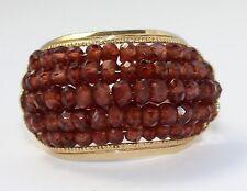 14k Yellow Gold Garnet Ladies Ring