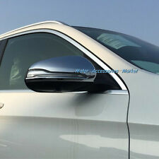 New Chrome Rearview Mirror Cover For Mercedes-Benz GLC X253 C-Class W205 2015 16