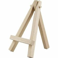Mini Wooden Easel x 3 - Display Painting Craft Decorate Gift - Wedding Home 12cm