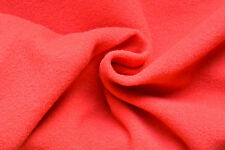 SK1 SOFT WARM CORAL LUXURIOUS LAMBS WOOL & CASHMERE PLAIN MELTON MADE IN ITALY