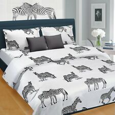 SYK Soft Cotton Double Bed sheet,Bedsheets with 2 Pillow Cover (073)- ZEBRA