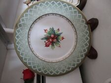"Fitz & Floyd Classics Choices ""WINTER HOLIDAY GREEN WREATH SALAD PLATE"""