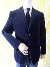 Z ZEGNA blue corduroy dual vent blazer sport coat jacket 50 40R