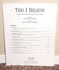 THIS I BELIEVE PIANO/VOCAL by Janice Kapp Perry CHRIST GOSPEL LDS MORMON RARE PB