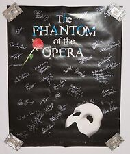 1995 TORONTO PHANTOM OF THE OPERA CAST SIGNED POSTER 22x28, 36 AUTOGRAPHS
