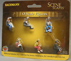 BACHMANN O GAUGE SEATED PLATFORM PASSENGERS figures people train bench 33161