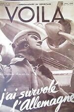 REPORTAGES PHOTOS VOILA 1940 AVIATION FERNANDEL DISNEY DIGNIMONT PIN UP NICE