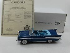 Danbury Mint 1957 Chevy Bel Air Convertible 1:24 Scale Diecast Model 50's Car