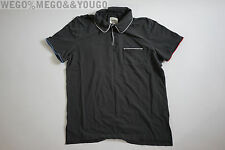 Band of Outsiders BoO Black Stripe Short Sleeve Cotton Polo Shirt XLarge XL (4)
