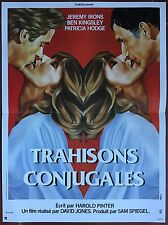 Affiche TRAHISONS CONJUGALES Betrayal JEREMY IRONS Ben Kingsley 40x60cm *d