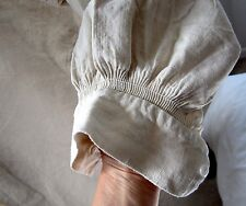Antique/Vintage French Linen Hemp Chore Shirt Farmer Smock 'H.C' Rustic Display