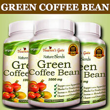 3 GREEN COFFEE BEAN EXTRACT 100% PURE WEIGHT LOSS FAT BURNER DIET DETOX ORGANIC