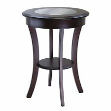 Cassie Round Accent Table with Glass-Winsome 40019 NEW