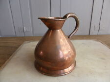 Antique copper measure jug