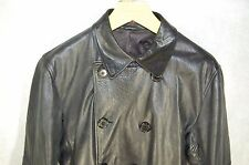 SUPPER GORGEOUS !!!  PAUL SMITH  MEN PEACOAT FITTED LEATHER JACKET L .MADE ITALY
