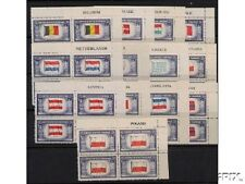 Overrun Nations 1943 Set of NAME BLOCKS MINT NH  #909 - 921 Complete World War2