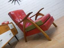 UBER KWEL ROCKABILLY RED RETRO MID-CENTURY MODERN ARMCHAIR TV CHAIR  !!FAB!!