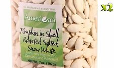14oz Gourmet Style Bags of Roasted Salted Snow White Pumpkin Seeds In Shell