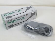 Super Famicom Nintendo Official RGB Cable SHVC-010 Boxed MINT Condition JAPAN