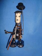 Old Vintage Metal & Plastic Winding Incomplete Charlie Chaplin Toy from England