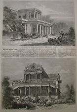 PRINCE OF WALES IN INDIA PALACE BARODA & RESIDENCY HARPER'S WEEKLY 1876